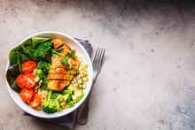 Balanced Food Concept. Chicken...