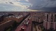 Aerial flight above beautiful Saint-Petersburg Russia 75