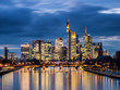 Panorama of the skyline Frankfurt am Main at twilight