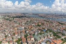 Istanbul, Turkey; Historical Peninsula Aerial Photo.