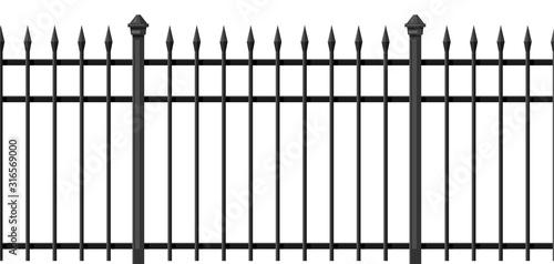 Valokuvatapetti Illustration of metal forged fence.