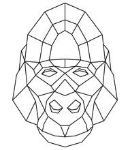 Abstract Polygonal Head Of Gor...