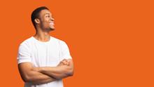 Smiling Black Man Profile Port...