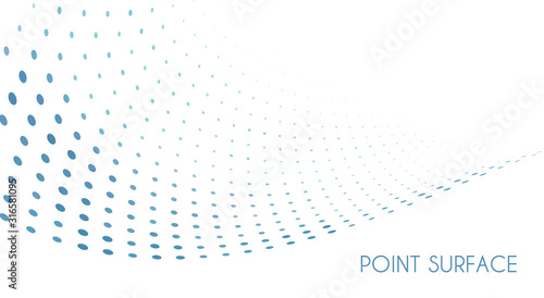 Obraz Minimal point surface. Blue dots on white background. Simple pattern - fototapety do salonu