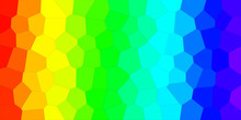 An Abstract Rainbow Colored Mosaic  Pattern Background Banner.
