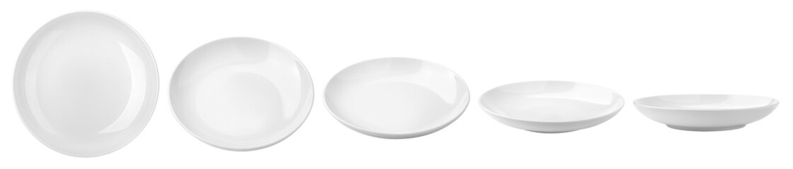 Empty plate, isolated on white background, clipping path, full depth of field