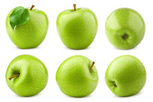 Green Juicy Apple Isolated On ...