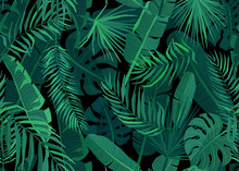 Tropic Seamless Pattern Vector...