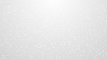 Dot White Gray Pattern Gradient Texture Background. Abstract  Technology Big Data Digital Background. 3d Rendering.