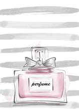 Perfume Bottle With Bow Vector...