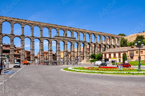 Ancient Aqueduct in Segovia, Spain