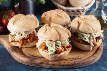 Pulled Chicken Sandwich With S...