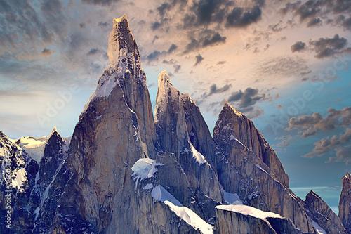 Cuadros en Lienzo Cerro Torre atardecer - Chalten - Santa Cruz
