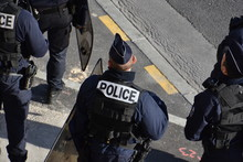 Police Force Photographed Duri...