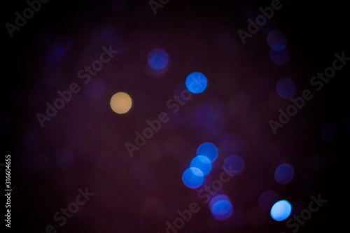 Night and starry sky in blur. Bokeh effect. Canvas Print