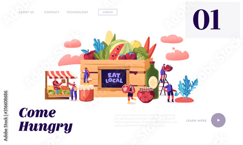 Foto Eat Local Website Landing Page