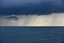 Rainfall Over The Sea. Heavy C...