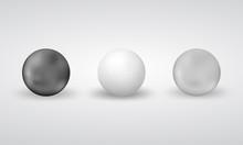 Vector 3d Realistic Spheres Se...