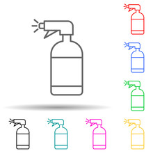 Sprayer Multi Color Style Icon. Simple Thin Line, Outline Vector Of Sprinkler Icons For Ui And Ux, Website Or Mobile Application