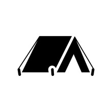 The Tent Icon. Travel Symbol. Flat Camping Tent Sign – Stock Vector