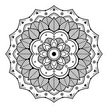 Mandala For Coloring Book. Arabic, Pakistan, Moroccan, Turkish, Indian, Spain Motifs