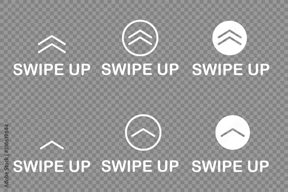 Fototapeta swipe up icon isolated white background vector