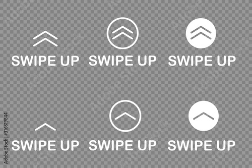 swipe up icon isolated white background vector