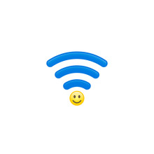 Smile Wi Fi Waves Icon, Share ...