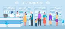 Pharmacy, People Medicines Buy...