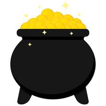 Black Cauldron Full Of Golden ...