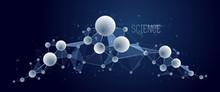 Molecules Vector Illustration,...