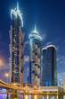 Night skyline of Dubai, United Arab Emirates
