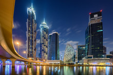Night Skyline Of Dubai, United...