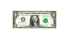 1 Dollar Money Realistic Paper Banknotes Of USA - Vector Business Art Illustration