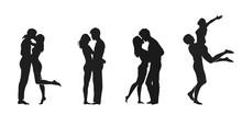 Couple In Love Icon Set. Valentines Day Design Element. Love Symbol