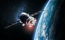 Cargo Space Ship On Orbit Of T...
