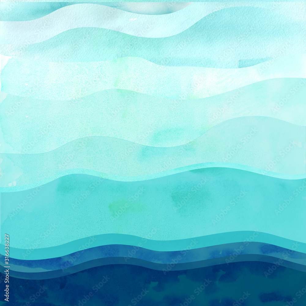 Marine background with waves.