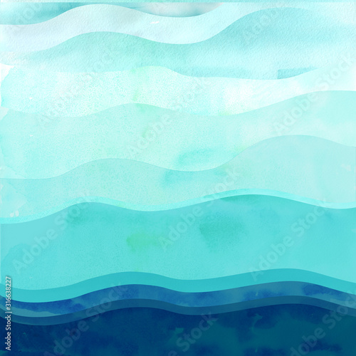 Foto Marine background with waves.