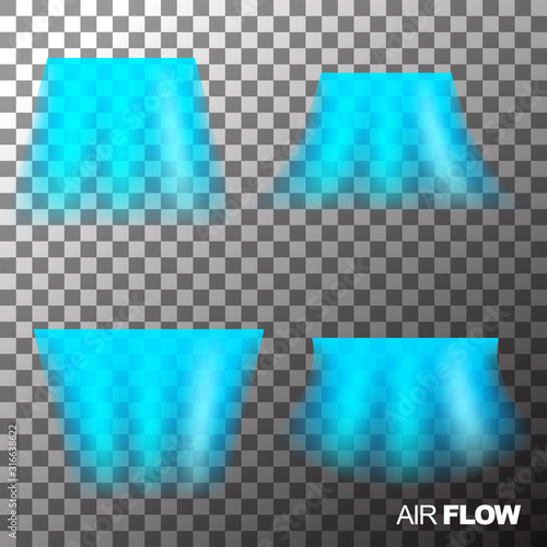 Photo Air flow of clean or cold air from conditioner