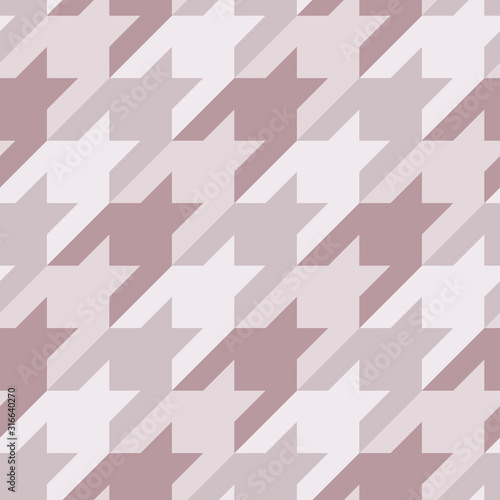 Seamless surface pattern with houndstooth ornament Wallpaper Mural