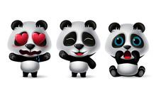 Panda Bear Character Vector Se...