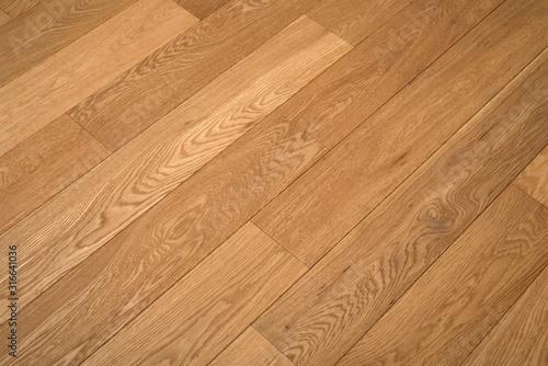 Fototapeta Parquet diagonal floor, nice oak parquet light wood colour obraz na płótnie