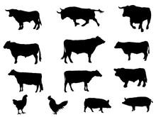 家畜シルエット