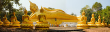 Big Golden Buddha Status In Wa...