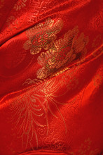 Chinese Floral Pattern Fabric