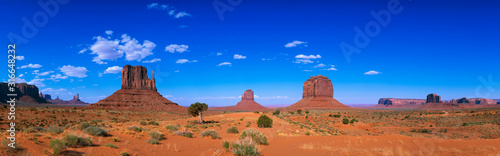 This is a 360 degree panoramic image of Monument Valley Navajo Tribal Park Canvas Print