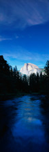This Is The Half Dome With The Merced River Flowing In Front Of It.