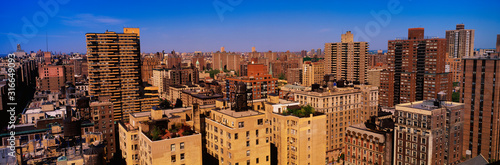 Fototapeta This is an aerial view of the urban apartments in Manhattan on the Upper West Side. obraz