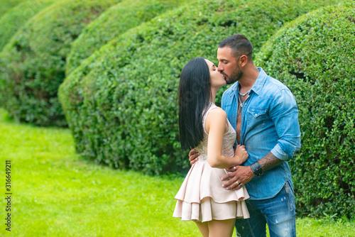 Fotografie, Obraz Passionate sensual lovers enjoying intimacy making love