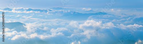 These are clouds situated over the Great Smoky Mountain National Park Fototapet